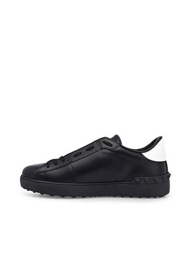 Valentino Hakiki Deri Sneaker Ayakkabı Erkek Ayakkabı S0830 Xzu 0Nı Siyah